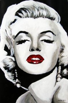 """Marilyn Monroe"" Pop Art Painting by Venus. 11 x 8 Acrylic on Paper. https://www.etsy.com/shop/PaintingsbyVenus?ref=l2-shopheader-name #popart #painting"
