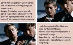 [gifset] DVD commentary from Jensen and Jared on 1x04 Phantom Traveler. << that's why you can't have nice things, Jared