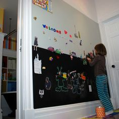 magnetic chalkboard wall