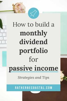 How to build a monthly dividend portfolio for passive income · Holistic Moxie - - Strategies and tip to help you quickly set up a monthly dividend portfolio to pay you passive income without it feeling like rocket science. Investing Money, Saving Money, Saving Tips, Stock Investing, Dividend Investing, Dividend Stocks, Investment Portfolio, Financial Tips, Money Management