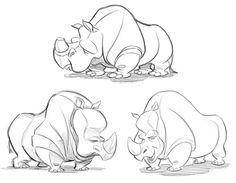 Character Design: Rhino | Cedric's Blog-O-Rama!