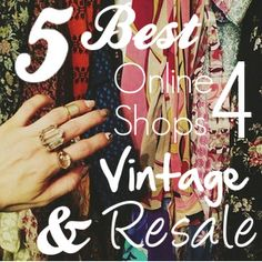 #Sustainable stylist tips for shopping online  #vintage #resale #consignment #upcycle #sustainablefashion