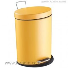 """Laroom - Papelera elíptica """"step"""" naranja 5L. (cubeta extraible) - Laroom diseña las papeleras de Baño más bonitas del mundo - www.laroom.com"""