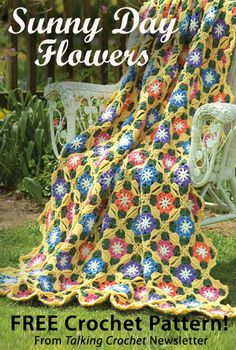 Sunny Day Flowers Download from Talking Crochet newsletter. Click on the photo to access the free pattern. Sign up for this free newsletter here: AnniesNewsletters.com.