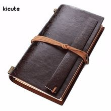 1pcs Retro PU Leather Travel Journal Diary Blank Paper Notebook Agenda Personal Sketchbook Gift Business Office School Supplies(China (Mainland))