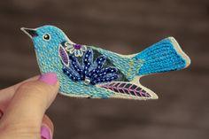 El blog de Dmc: Los pájaros bordados de Geninne