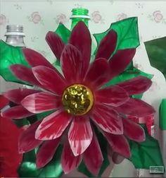 Cómo hacer #flores de nochebuena con #botellas de #plástico paso a paso  #HOWTO #DIY #reducir #reciclar #reutilizar