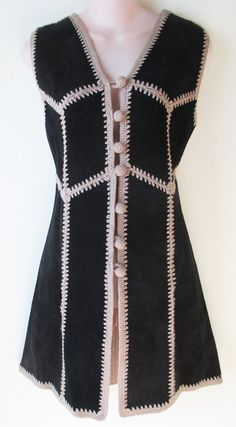 Tarni Women's Boho Hippie Vintage 60s Crochet and Leather