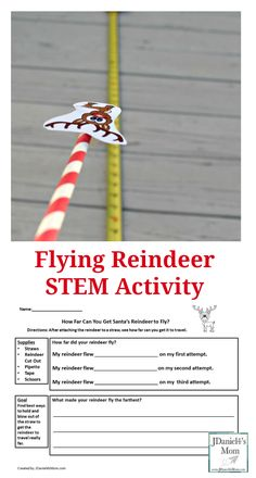 Flying Reindeer STEM Activity