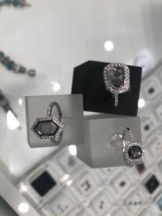 Salt And Pepper Diamond, Diamond Rings, Cufflinks, Jewellery, Handmade, Accessories, Jewels, Hand Made, Jewelry Shop