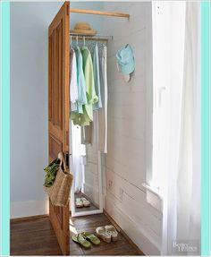 super Ideas for corner closet diy dressing rooms Dressing Room Closet, Closet Bedroom, Closet Space, Bathroom Closet, Diy Bedroom, Dressing Area, No Closet, Dressing Rooms, Closet Storage