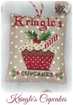 Kringles Cupcakes is the title of this cross stitch pattern from Grandma Kringles that is stitched with DMC threads - looks good enough to eat!