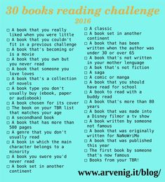 30 Books Reading Challenge 2016                                                                                                                                                                                 More