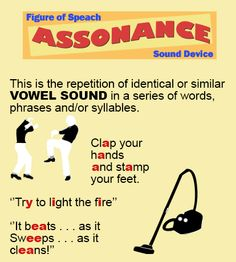 Assonance refers the repetition of vowel sounds that happens in the sentences. Assonance happens when two or more words place together and the same vowel sounds are repeated, but each word starts… English Grammar Worksheets, Grammar And Vocabulary, English Vocabulary, Language Lessons, Dual Language, Second Language