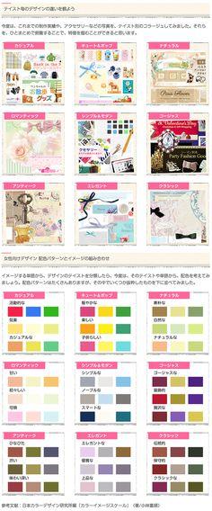 女性向けのデザイン とは、どんなものだろう?そう、悩んだことがある方にとって、ここに書いている内容がすこしはお役に立つかもしれません。いまいち、はっきりしていないという方は、このチャートを活用してみてください。いわゆる言語イメージスケールに、オリジナルの加工を加えて作成したものです。 #webデザイン #女性向けホームページ #webdesign #design #graphic #color #imagebord #デザイン #グラフィックデザイン #イメージボード #ウェブデザイン #女性向けデザイン Commercial Art, Color Combos, My Design, Editorial, Study, Chart, Coffee, Crochet, Kaffee