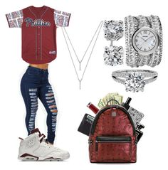 """""""Maroon"""" by life957 ❤ liked on Polyvore featuring BCBGeneration, NIKE, Blue Nile, Marc by Marc Jacobs, Urban Decay, Alaïa, Lewis N. Clark and MCM"""