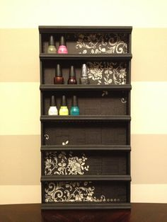 NEED THIS for my walk in closet - in pink/white - ackkkkk so great! Nail Polish Rack, Poetic byAlegory - Various Color Frame Options via Etsy Nail Polish Holder, Nail Polish Storage, Nails Polish, Diy Arts And Crafts, Diy Crafts, Nail Rack, Cool Apartments, My Living Room, Getting Organized