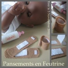 bandaids for your baby's baby. make her a little hypochondriac Felt Crafts, Diy And Crafts, Craft Show Ideas, Felt Patterns, Sewing Table, Felt Toys, Dramatic Play Themes, Diy Toys, Diy For Kids
