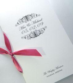 Simplified Booklet Wedding Program  Sample  by EmbellishedPaperie, $3.25