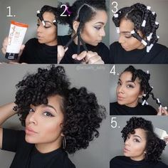 """Ashly on Instagram: """"Love me a good Braid & Curl ➰ Started on Damp Hair. 1. Applied @carolsdaughter Hair Milk Styling Butter to medium size section of hair. 2. Braided hair down, left 2in at the end to roll onto perm rod.(I did 12 braids) 3. Let hair air dry. 4. Take down, unravel, and separate. 5. Fluff at the roots to reach my desired volume Work it! #ActuallyAshly #CarolsDaughter"""""""