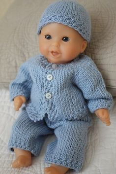 Knitting Patterns For Baby Newborn Doll : free knit 18 doll patterns Knit/Doll Clothes   ABC ...