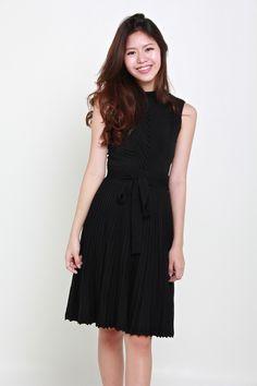 DIVA PLEATED KNIT SKIRT - BLACK – Bella Blizz Knit Skirt, Diva, Slip On, Knitting, Fabric, Skirts, Model, Cotton, How To Wear