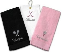 SlamGlam - Titania Golf Rhinestone Golf Towels, $25.00 (http://www.slamglam.com/titania-golf-rhinestone-golf-towel-1/)