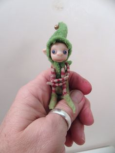 """looking INNOCENT  ... """" Elf on a Shelf """" by DinkyDarlings ... one of a kind fully composed little poseable elf fairy"""