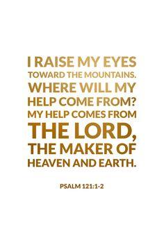 Psalm 121:1-2 Art Print