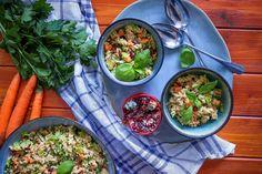 Salát s quinoou, zeleninou a granátovým jablkem | Veganská liška Quinoa, Ethnic Recipes, Food, Essen, Meals, Yemek, Eten