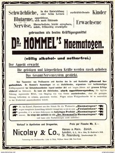 Original-Werbung/ Anzeige 1907 - 1/1-SEITE- DR.HOMMEL'S HAEMATOGEN Ca. 180 X 260 Mm - Werbung