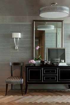 Contemporary Spaces Black Wallpaper Design, Pictures, Remodel, Decor and Ideas - page 3