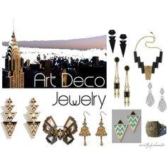 art deco jewelry, created by niska on Polyvore