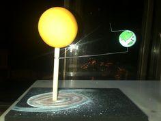 Maqueta del movimiento de la tierra (traslación y rotación)