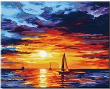 Beautiful Vintage Paint by Number Kit: Sunset  (50cm x 40cm) DIY & Mural NEW