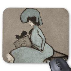 Vintage Monte Carlo Girl Hamilton King Antique Mouse Pads