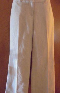 NWT~ANNE TAYLOR~Reg $70~LOFT~Bone w/Silver-threads~Hip~Straight-Legs~Women~0P in Clothing, Shoes & Accessories, Women's Clothing, Pants | eBay