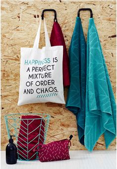Muovo for SOK: tote bags, towels, wire baskets and pouches.