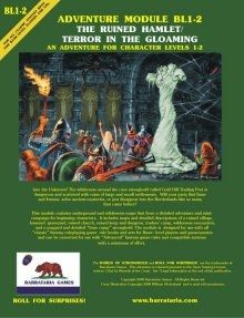 Swords & Stitchery - Old Time Sewing & Table Top Rpg Blog: Free OSR Adventure Resource - Adventure Module BL1-2: The Ruined Hamlet/Terror in the Gloaming From Barrataria Games
