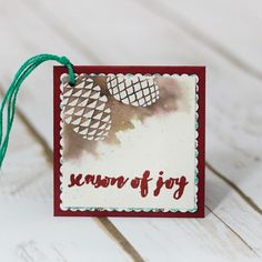 Watercolor gift tags and box featuring the Christmas Pines stamp set from Stampin' Up by Marisa Gunn Stampin Up Christmas, Christmas Gift Tags, All Things Christmas, Christmas Crafts, Xmas, Simple Gifts, Stamping Up, Homemade Cards, Chinese Food