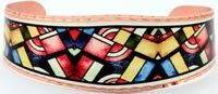 Bracelets Handmade in Colorful Art Deco Designs by Copper Reflections.