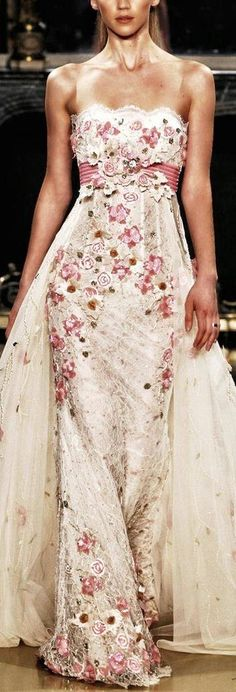 Zuhair Murad. OMG this is gorgeous. If I could afford couture I would wear this at our vow renewal.