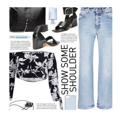 """""""Shimmy, Shimmy: Off-Shoulder Tops"""" by beebeely-look ❤ liked on Polyvore featuring Orlane, Marc Jacobs, Alexander McQueen, Skinnydip, StreetStyle, floralprint, streetwear, yoinscollection and showsomeshoulder"""
