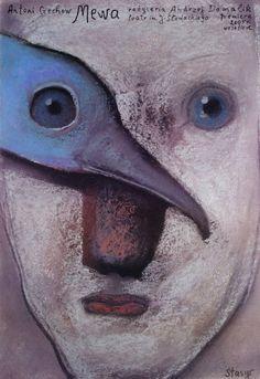 The Seagull, Chekhov, Polish Theater Poster