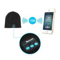 2014 forman el mini amplificador receptor Bluetooth inalámbrico de altavoces de música audio Sombrero caliente suave Cap Auricular inteligente auriculares