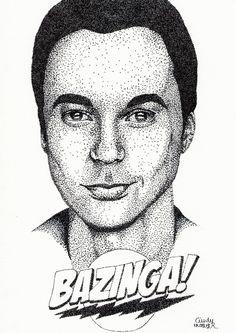 Bazinga Pointillism by Cindy-R.deviantart.com on @DeviantArt