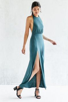Pin for Later: These Bridesmaid Dresses Aren't Just Gorgeous — They're Also Under $100  Silence + Noise Thigh-Slit Halter Maxi Dress ($59)