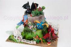 How To Train Your Dragon Cake / Tort Jak Wytresować Smoka - Cake by Edyta rogwojskiego.pl