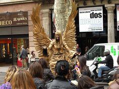 Street performer - La Rambla Barcelona, March 23, 2010
