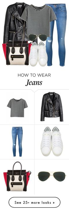 """""""Style #11373"""" by vany-alvarado on Polyvore featuring H&M, J Brand, CÉLINE, Yves Saint Laurent and Ray-Ban"""